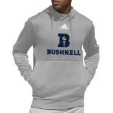 Adidas Grey Team Issue Hoodie-Bushnell Athletic Mark