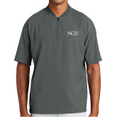 New Era Charcoal Cage Short Sleeve 1/4 Zip-NCU Logo