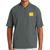 New Era Charcoal Cage Short Sleeve 1/4 Zip-NC Interlocking