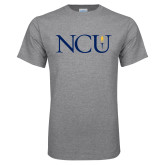 Grey T Shirt-NCU Logo