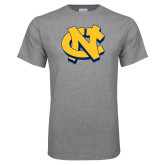 Grey T Shirt-NC Interlocking
