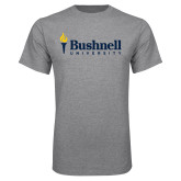 Grey T Shirt-Bushnell University Primary Mark