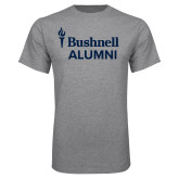 Grey T Shirt-Bushnell University Alumni