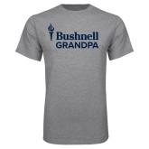 Grey T Shirt-Bushnell University Grandpa