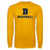 Gold Long Sleeve T Shirt-Bushnell Athletic Mark