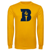 Gold Long Sleeve T Shirt-B Icon