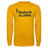 Gold Long Sleeve T Shirt-Bushnell University Alumni