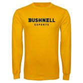 Gold Long Sleeve T Shirt-ESports