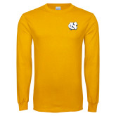 Gold Long Sleeve T Shirt-NC Interlocking
