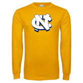 Gold Long Sleeve T Shirt-NC Interlocking
