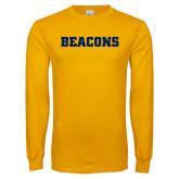 Gold Long Sleeve T Shirt-Beacons
