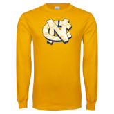 Gold Long Sleeve T Shirt-Official Artwork Distressed 2