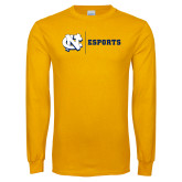 Gold Long Sleeve T Shirt-ESports