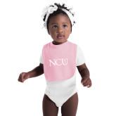 Light Pink Baby Bib-NCU Logo