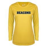 Ladies Syntrel Performance Gold Longsleeve Shirt-Beacons