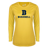 Ladies Syntrel Performance Gold Longsleeve Shirt-Bushnell Athletic Mark