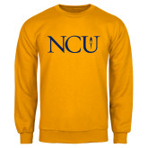 Gold Fleece Crew-NCU Logo