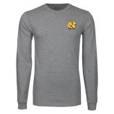 Grey Long Sleeve T Shirt-NC Interlocking