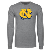 Grey Long Sleeve T Shirt-NC Interlocking