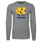 Grey Long Sleeve T Shirt-CN Beacons