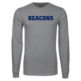 Grey Long Sleeve T Shirt-Beacons