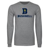 Grey Long Sleeve T Shirt-Bushnell Athletic Mark
