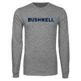 Grey Long Sleeve T Shirt-Bushnell Athletics Wordmark