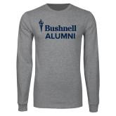 Grey Long Sleeve T Shirt-Bushnell University Alumni