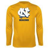 Performance Gold Longsleeve Shirt-CN Beacons