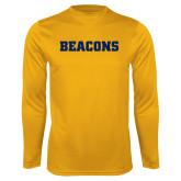Performance Gold Longsleeve Shirt-Beacons