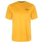 Performance Gold Tee-NCU Logo