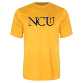 Performance Gold Tee-NCU Logo