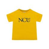 Toddler Gold T Shirt-NCU Logo