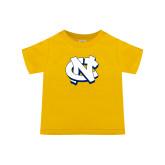 Toddler Gold T Shirt-NC Interlocking