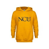 Youth Gold Fleece Hoodie-NCU Logo