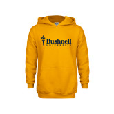 Youth Gold Fleece Hoodie-Bushnell University Primary Mark