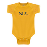 Gold Infant Onesie-NCU Logo