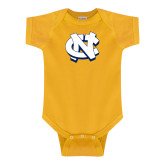 Gold Infant Onesie-NC Interlocking