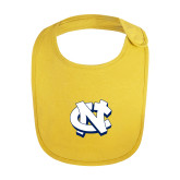 Yellow Baby Bib-NC Interlocking