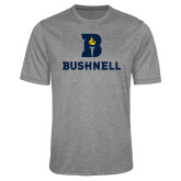 Performance Grey Heather Contender Tee-Bushnell Athletic Mark