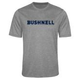 Performance Grey Heather Contender Tee-Bushnell Athletics Wordmark