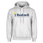 White Fleece Hoodie-Bushnell University Primary Mark