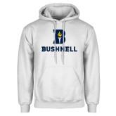 White Fleece Hoodie-Bushnell Athletic Mark