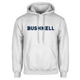 White Fleece Hoodie-Bushnell Athletics Wordmark