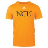 Adidas Gold Logo T Shirt-NCU Logo