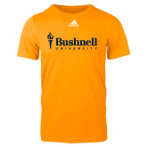 Adidas Gold Logo T Shirt-Bushnell University Primary Mark