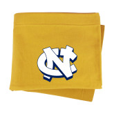 Gold Sweatshirt Blanket-NC Interlocking