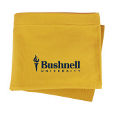 Gold Sweatshirt Blanket-Bushnell University Primary Mark