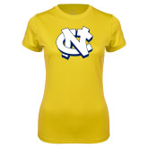 Ladies Syntrel Performance Gold Tee-NC Interlocking