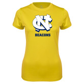 Ladies Syntrel Performance Gold Tee-CN Beacons